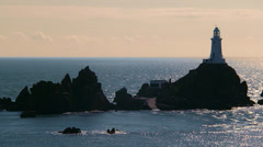 Jersey Corbiere Phare Beacon - stock footage