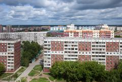 Residential district at Novosibirsk city Stock Photos