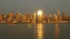 4K New York City Skyline Day-to-Night Timelapse 3 Stock Footage