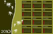 Stock Illustration of Calendar 2010 Zen