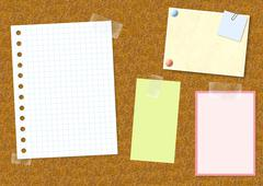 Notice board Stock Illustration