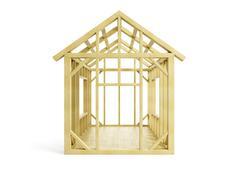 Home Construction - stock illustration