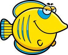 Sly cartoon butterflyfish Stock Illustration