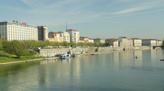 A lake in Turin Italy Stock Footage