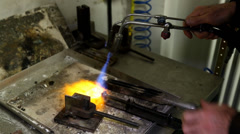 Blowtorch Gold Stock Footage