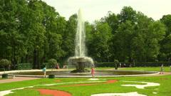 Fountain Bowl. Peterhof. Fountains. Petrodvorets. 4K. Stock Footage