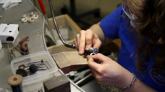 Jewellery Sanding A Ring Stock Footage
