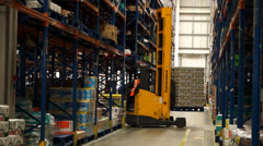 Logistics Warehouse Forklift Activity 2 - stock footage