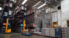 Distribution Warehouse Pan Stock Footage