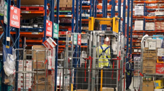 Logistics Warehouse Activity 2 - stock footage