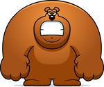 Stock Illustration of angry cartoon bear
