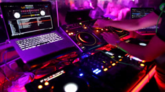 Stock Video Footage of DJ Set