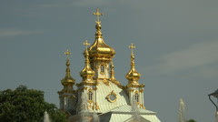 Great Peterhof Palace. Peterhof. Fountains. Petrodvorets. 4K. Stock Footage