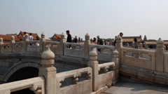 Crowds in the forbidden city palace in beijing china Stock Footage