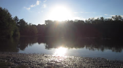 Early Morning Lake in England Stock Footage