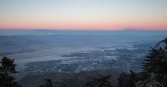 4K aerial time lapse of downtown Palm Springs at dusk Stock Footage