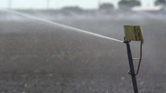 Close Up of a Sprinkler Irrigation System at 240fps - stock footage