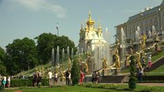 Fountain of the Grand cascade. Peterhof. Fountains. Petrodvorets. 4K. - stock footage
