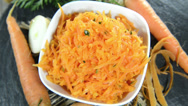 Stock Video Footage of homemade carrot salad (loopable)