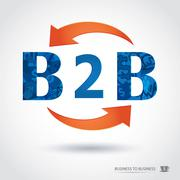 B2b , business to business Stock Illustration
