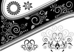 Stock Illustration of Canvas with a pattern and details for design