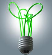 Light bulb green energy flourescent Stock Illustration