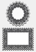 Stock Illustration of Options frame for napkin.