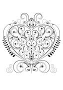 Stock Illustration of Openwork pattern in the form of heart