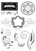 Stock Illustration of Collection of patterns with ears of corn wheat