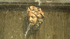 Lion cascade fountain. Peterhof. Fountains. Petrodvorets. 4K. - stock footage