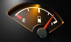 gas gage illuminated full - stock illustration
