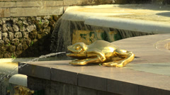 Separate Fountains of the Grand cascade. Peterhof. Fountains. Petrodvorets. 4K. Stock Footage