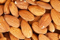 Almond nuts  background Stock Photos
