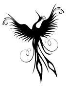 Phoenix bird figure isolated - stock illustration