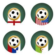 2010 Soccer World Cup South Africa Group C Stock Illustration