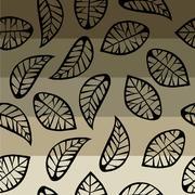 Leaves on degrade background Stock Illustration