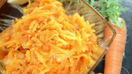 Stock Video Footage of carrot salad (loopable)