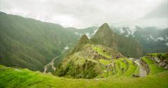 Machu Picchu - Panoramic View - Time lapse (Peru) Stock Footage