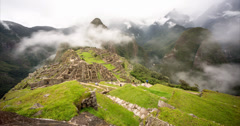 Machu Picchu in Peru – Time lapse video footage Stock Footage
