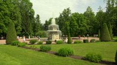 Roman fountains. Peterhof. Fountains. Petrodvorets. 4K. - stock footage