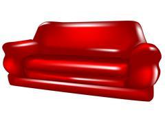 sofa isolated - stock illustration