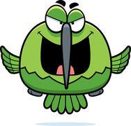 Evil little hummingbird Stock Illustration