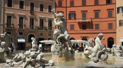 Fountain of Neptune - stock footage