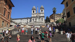 Spanish Steps Stock Footage
