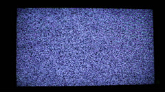 Static noise of flickering detuned Television screen - stock footage