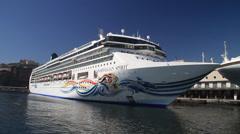 Norweigan Spirit Cruise Ship Stock Footage