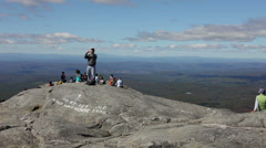 At the top of Mount Monadnock in New Hampshire Stock Footage