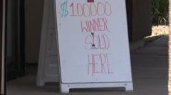 Lottery winner, lotto Stock Footage