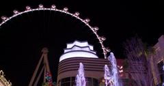 Ferris Wheel attraction High Roller in Vegas 4k Stock Footage