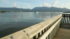 Vancouver Seabus, Burrard Inlet dolly shot Stock Footage